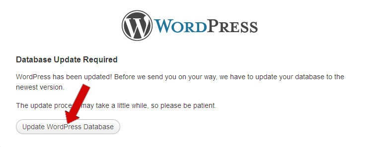 upgrade wordpress manual - unas