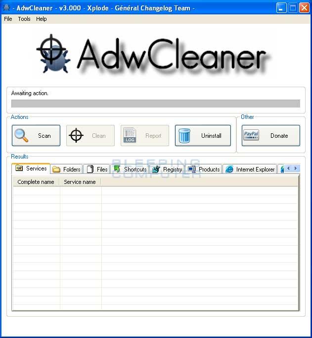 AdwCleaner Scan - Menghapus Searchqu