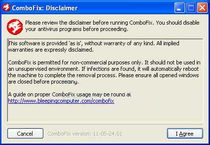 combofix startup - remove malware