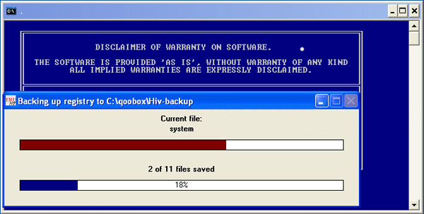 combofix backup registry - remove malware