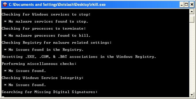 rkill proses - menghilangkan virus malware